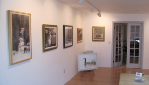 Gallery wall in Studio Six Fine Art